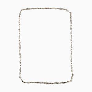 Collana modernista in argento di Georg Jensen
