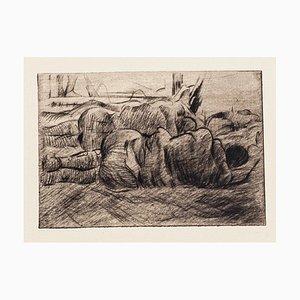 Gravure à l'Eau-Forte Le Front Italien - 1918 1918