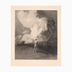 Der Abend - Vintage Héliogravure by Franz von Bayros - Early 1900 Early 20th Century