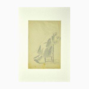 Praying - Original Pencil on Paper by Ildebrando Urbani - 1932 1932
