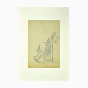 Praying - Pencil Original par Ildebrando Urbani - 1932 1932