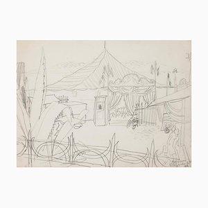 Circus - Original Bleistift auf Papier - 1948 1948