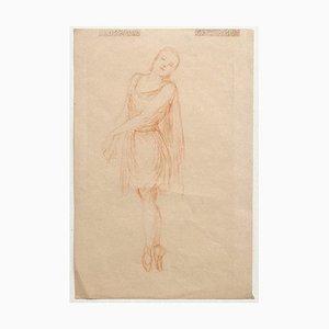 Dancer - Original Pastel Drawing on Paper - 20th Century 20th Century