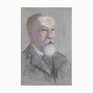 Portrait - Pastel Original sur Papier par M. Gérard - Début 20ème Siècle Début 20ème Siècle