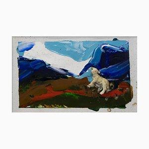 Untitled - Lamb - Original Mixed Media by Mario Schifano - 1995 1995