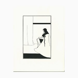 The Fall of the House of Usher - Original Lithograph by Aubrey Beardsley - 1970s 1970s