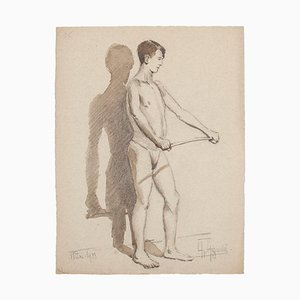 Figure and Shadow - Original Pencil and Watercolor on Paper - 1933 1933
