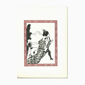 Cinesias Entreating Myrrhina to Coition - Lithograph by A. Beardsley - 1970s 1970
