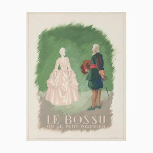 Le Bossu - Original Drawing In Tempera - Early 20th Century Early 20th Century