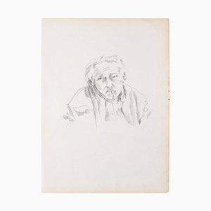 Portrait - Original Pencil on Ivory Paper - 1950 1950