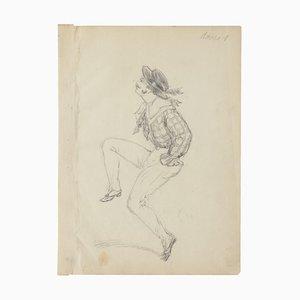 Dancer - Original Pencil Drawing - 20th Century 20th Century
