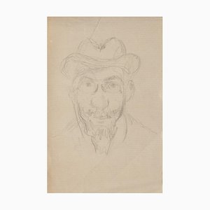 Portrait - Original Pencil Drawing - Early 20th Century Early 20th Century