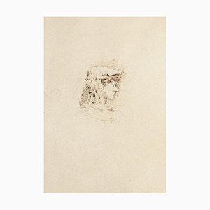 Portrait - Original Drawing on Paper - 1880 1880