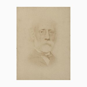 Porträt des Malers Carlo Ferrari - Ursprüngliche ursprüngliche Fotografie - 1870 1870