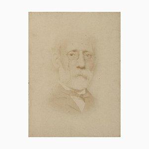 Portrait of Painter Carlo Ferrari - Original Original Photograph - 1870 1870