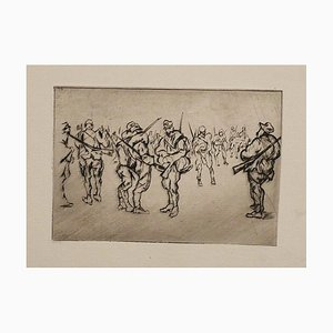 Le Front Italien - Original Etching on Paper by A. Bucci - 1918 1918