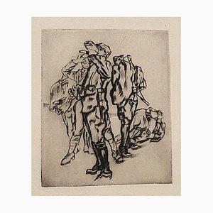 Le Front Italien - Original Etching on Paper - 1918 1918