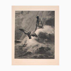 Lovcen - Héliogravure Vintage par Franz von Bayros - 20ème Siècle Début 20ème Siècle