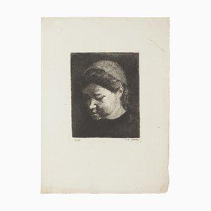 Retrato - Grabado Original - 1937 1937