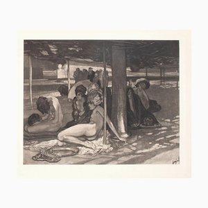 Ein Tag Der Guillotine - Vintage Héliogravüre von Franz von Bayros - 1900 Frühes 20. Jahrhundert