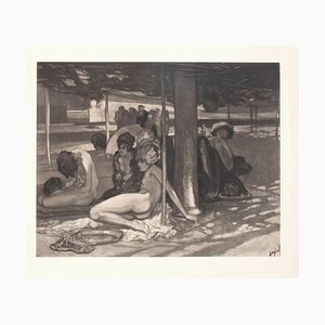 Ein Tag Der Guillotine - Vintage Héliogravure by Franz von Bayros - 1900 Early 20th Century