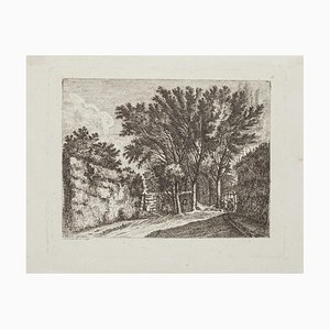 The Forest - Original Etching - 18th Century 18th Century