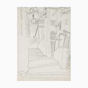 Landscape - Original Pencil on Paper - 1948 1948
