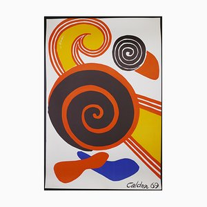Composition With Spirals - Vintage Lithographic Poster - A. Calder - 1969 1969