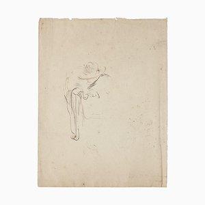 Portrait - Original Drawing In Pen - 1850s 1850s