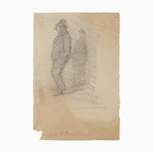 Figure - Original Drawing in Pencil - Early 20th Century Early 20th Century