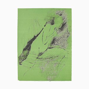 Nude - Original Lithograph on Paper by Paul Guiramand - 1970 1970