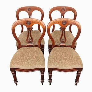 Sedie da pranzo e sedie Pop-Out in mogano antico, inizio XX secolo, set di 4