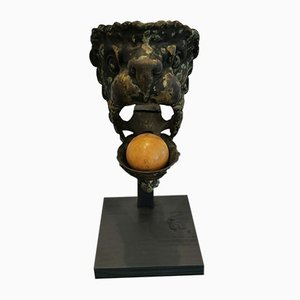 Billiard d'Angle Antique en Bronze