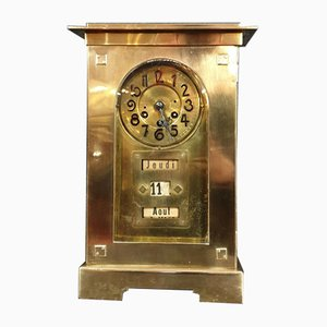 Antique Bronze and Brass-Plated Clock