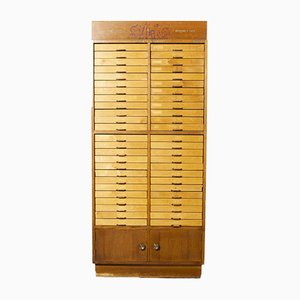Birch Fronted Sylko Cotton Haberdashery Storage Unit from Abel Morrall Ltd, 1950s