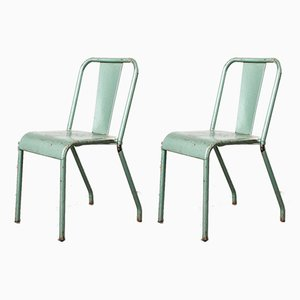 T37 Metal Cafe Outdoor Dining Chairs by Xavier Pauchard for Tolix, 1960s, Set of 2