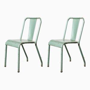 T37 Metall Café Esszimmerstühle von Xavier Pauchard für Tolix, 1960er, 2er Set