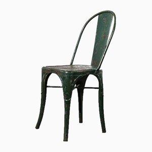 Sedia da scrivania modello A verde di Xavier Pauchard per Tolix, anni '40