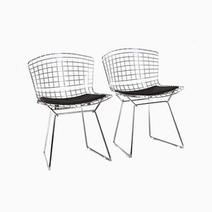 Model 420 Chrome Side Chairs by Harry Bertoia for Knoll Inc. / Knoll International, 1990s, Set of 2