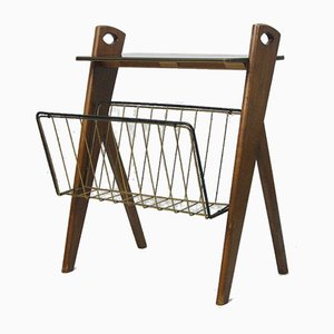 Mid-Century Magazine Rack from Ilse Möbel, 1950s