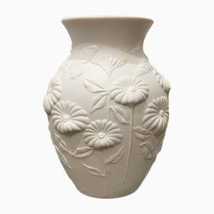 Mid-Century Flowers and Butterflies Vase by M. Frey for Kaiser