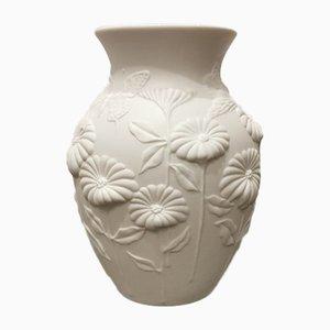 Vase Fleurs et Papillons Mid-Century par M. Frey pour Kaiser