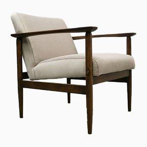 Mid-Century Easy Chair in Cappuccino Velvet, 1960s
