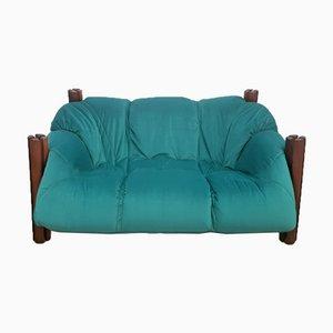 Zwei-Sitzer Sofa aus Samt Palisander von Percival Lafer, 1960er