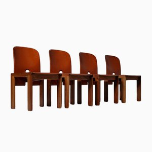 Mid-Century Model 121 Dining Chairs by Tobia & Afra Scarpa for Cassina, Set of 4