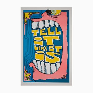 Tell It Like It Is, American Political/Protest Poster by Ape, 1970s