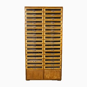 Tall Multi Drawer Haberdashery Storage Unit, 1930s