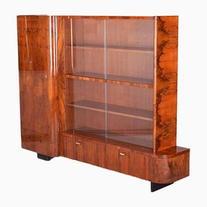 Czech Art Deco Walnut Bookcase by Jindřich Halabala for UP Závody, 1930s