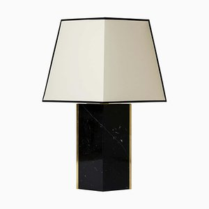 Marine Black Marble and Brass Table Lamp by Dorian Caffot de Fawes, 2010