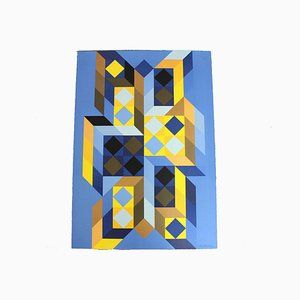 Tridimo Silkscreen by Victor Vasarely, 1970s